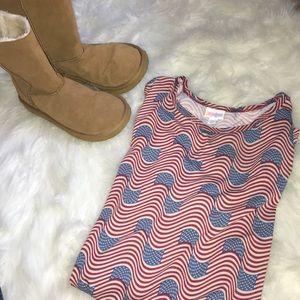 Lularoe American flag tunic